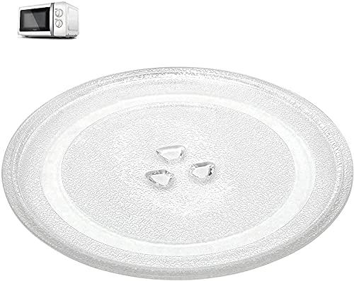 Piatto Universale per Microonde, Piatto Girevole Whirlpool 24,5 cm, Piatto Girevole per Forno a Microonde, Piatti Vetro Rotondi, Piatto Vetro Microonde, Piatto Girevole Microonde