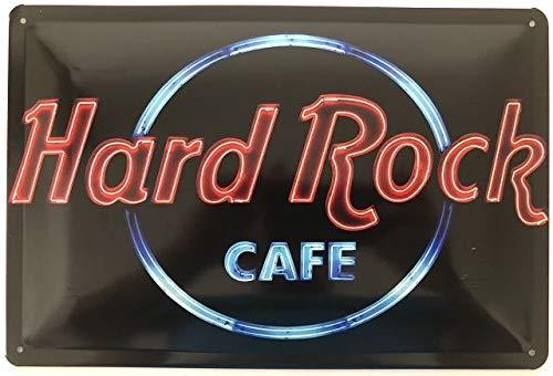 Deko7 Blechschild 30 x 20 cm Hard Rock Cafe