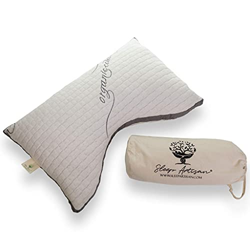Luxury Side Sleeper Pillow with Curved Design Helps You Sleep Better Than Ever and Reduces Neck Pain