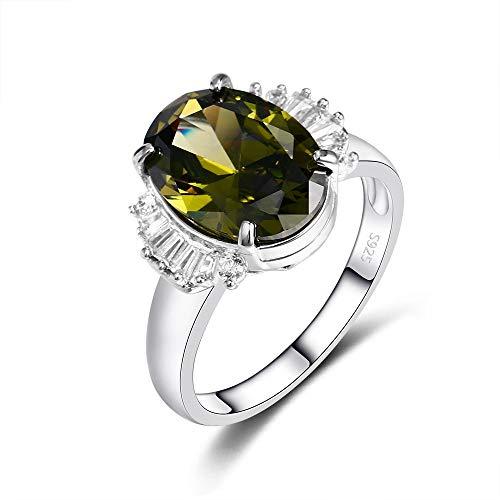 IWINO Trendy ovale 925 sterling zilveren ringen met topaas Dames zilveren sieraden Huwelijksverjaardag Dagelijks leven Verjaardagscadeau
