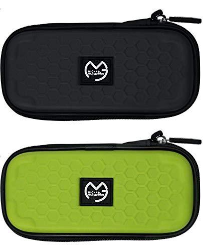 XQmax Michael Van Gerwen Darts Case Wallet Darttasche Grün und Schwarz M und XL (Grün, M)