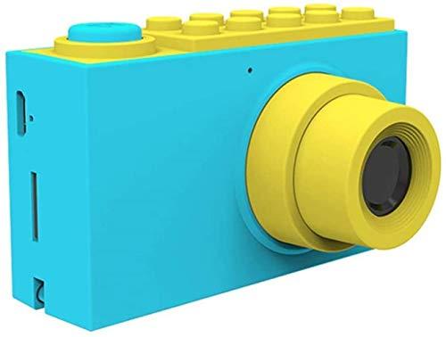 Woodtree Los niños de cámaras Digitales, batería de Litio Resistente al Agua for Tarjetas de Memoria de Alta definición Videocámaras with16G, Anti-Gota de Silicona Caso Color: Rosa (Color : Blue)
