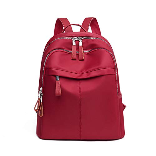 YYMMQQ Sac à Dos d'extérieur,Women Backpack Travel Casual Waterproof Women's Shoulder Bags Female Large Capacity Oxford Rucksack Black Purse,Red