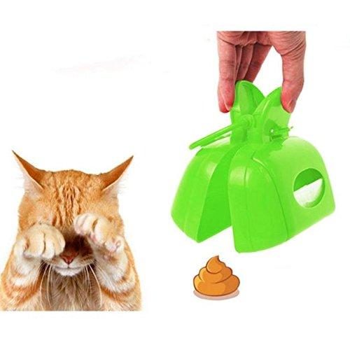 ABBY Pet Chiens Chats Ramasse-crottes Pelles Ramasse en Plastique Portable Pooper Scooper pour Nettoyer Excréments/Vert