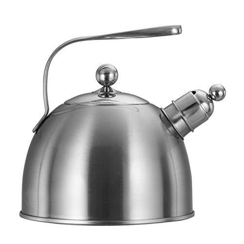 ASDFDG Estufa Top Tetera Hervidor de Gas silbido Espesado de Acero Inoxidable Cocina de inducción Universal Hot Pot Sopa Té té Agua cafetera