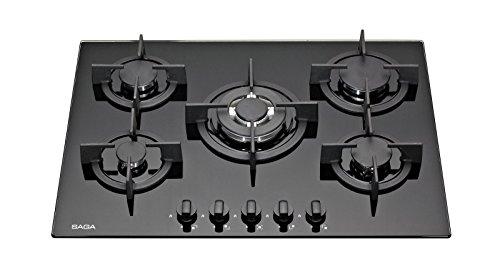 SAGA Elegans X751 70cm 5 fornelli in vetro piano cottura a gas