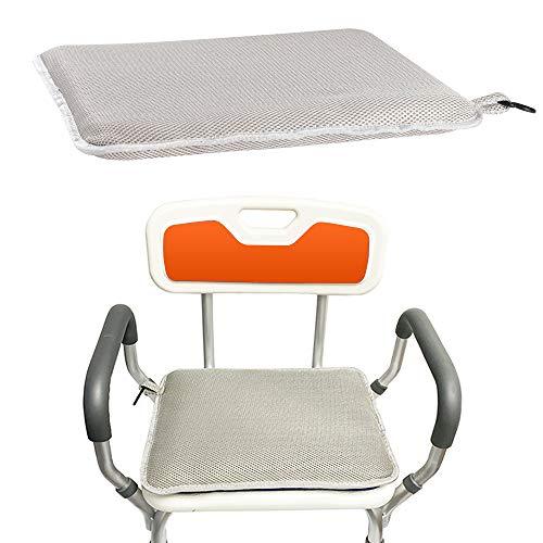 Shower Bench Cushion Seat Shower Chair Pad Benches Mat Bathtub Bath Seats Cushions for Seniors Handicap Elderly Padded Shower Stool Bath Tub Foam Shower Seat Pillow Assist