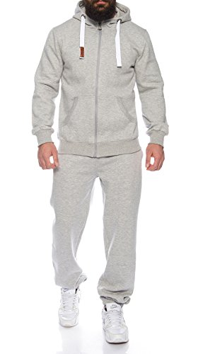 Finchman Finchsuit 1 Herren Jogging Anzug Trainingsanzug Sportanzug FMJS135, Gray, L