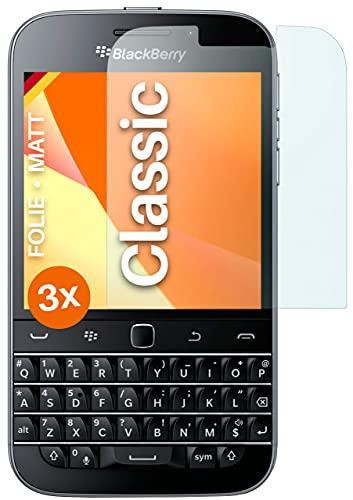moex Schutzfolie matt kompatibel mit BlackBerry Classic - Folie gegen Reflexionen, Anti Reflex Bildschirmschutz, Matte Bildschirmfolie - 3X Stück
