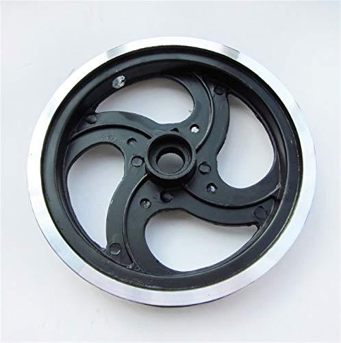 QFDM Polea de Acero Inoxidable 1 Pieza .Bicicleta Plegable de 8 Pulgadas de Aluminio Ruedas de polea aleación Duradera