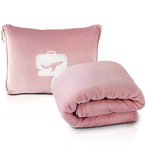 EverSnug Travel Blanket and Pillow - Premium Soft 2 in 1...