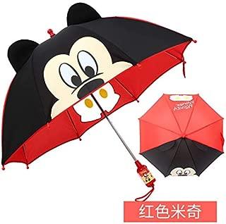 Ragazze Minnie Mouse Ombrello Rosso per Bambini con design Minnie Mouse