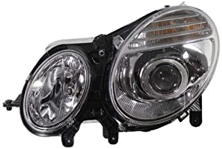 Headlight Assembly Compatible with 2007-2009 Mercedes Benz E320 E350 E550 E63 AMG Halogen From 6-30-2006 Driver Side
