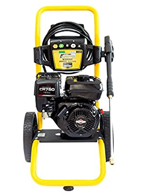 WASPPER ? Petrol Pressure Washer ? Briggs & Stratton 3000 PSI 163cc Engine Powered High Pressure Portable Jet Sprayer W3000HC ? Premium Power & Build Quality Car & Patio Cleaner from WASPPER