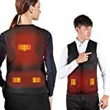 VALLEYWIND Electric Heated Vest for Men Women, USB Charging Heated Jacket Washable Black