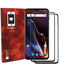 Case Plus Full Glue 11D Full Edge-to-Edge Screen Protection Tempered Glass Compatible for OnePlus 7 One Plus 1+7 (6.41-inch) - Black (with Easy Installation kit)-Pack of Two(2) (ONE Plus 7)