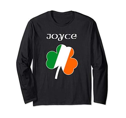 Joyce Irish Last Name Gift Ireland Flag Shamrock Surname Long Sleeve T-Shirt