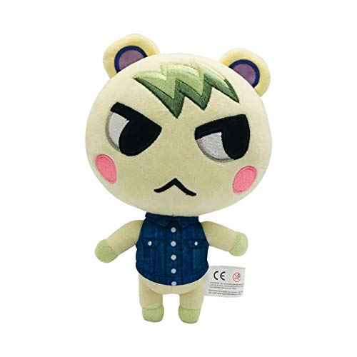 beibeiwang Animal Crossing Juguetes de Peluche muñeca Marshal Stitches Celeste Bob Fauna Felpa Suave Peluche Anime Juguetes de Peluche niños 20cm