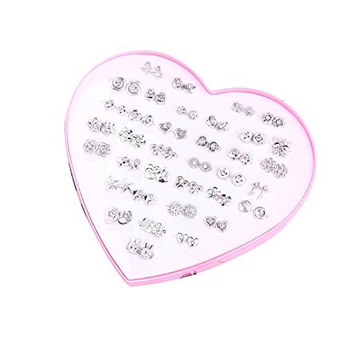 Aretes Caja de plástico anti-alérgico con termo de uñas pequeñas Pendientes simples...