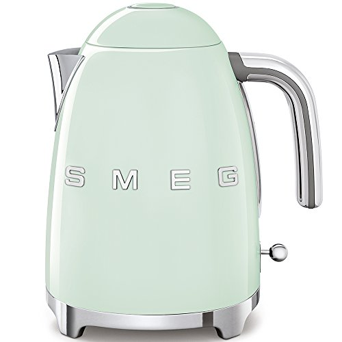 Smeg Elektrischer Wasserkocher KLF03PGEU, Chrom, Edelstahl, 1.7 liters, Pastellgrün