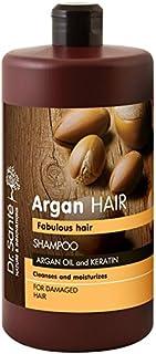 Champú de aceite de argán y Queratina para cabellos dañados Dr. Santé 1000ml