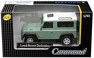Cararama 1: 43 Land Rover Defender (Pastel Green/White) Diecast Vehicles
