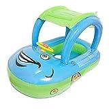 Hydz Anillo de baño para bebés Sombrilla Volante Seguro Vacaciones Flotante Verano Asiento para niños Inflable Barco de natación Juguetes Tubo de Piscina de Agua, 2, Polonia