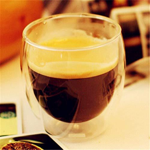 Erjialiu Clear 250Ml duidelijk handgemaakte hittebestendige dubbele muur glas Kungfu citroen thee mok gezonde drank mok Espresso koffie mokken