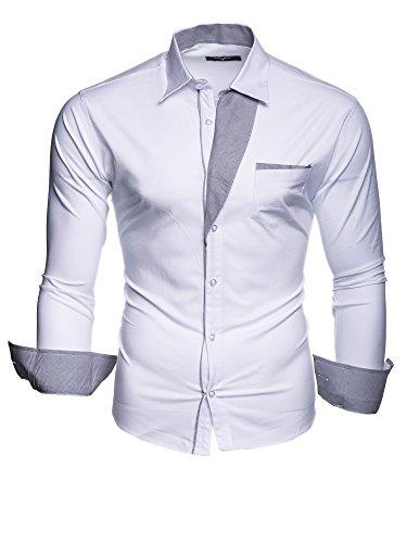 Krawattenhemd NEU Weiß (S)