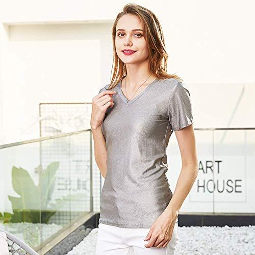 SHUNFENG-EU Ropa de Mujer Embarazada Camiseta Anti-radiación 100% Fibra de Plata y Traje de protección radiológica para Ropa Protectora Fem EMF, XXL (Size : X-Large)