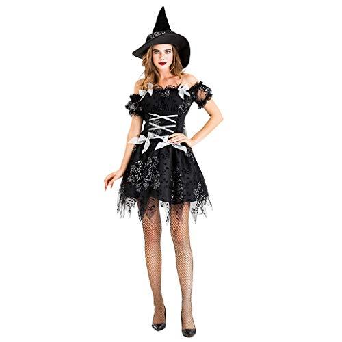 Volwassen vrouwen heks kostuum, jurk en hoed, legendes van het kwaad, Halloween, Halloween heks Fancy jurk partij kostuum