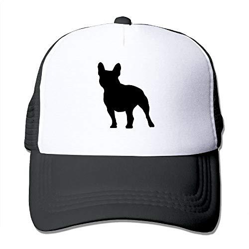 xinfub Sombreros de Malla Unisex Silueta de Bulldog francés Gorra Ajustable para Deportes al Aire Libre Snapback Red Red 12339