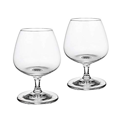 CRISTALICA Cognacschwenker 2er-Set Cognacglas Schwenker Napoli 390ml Brandy Weinbrand Glas