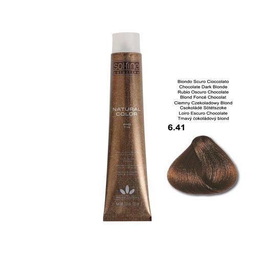 SOL.FINE - COLORATION SANS PPD - BLOND FONCE CHOCOLAT N° 6.41 - 100 ml