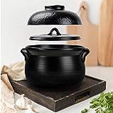 Double Lid Ceramic Casserole,earthen Pot Stockpot Japanese Nonstick Cooker Healthy Cookware Stove Pot