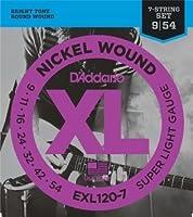 D'Addario EXL120-7 7弦 Super Ligtht (09-54) ダダリオ エレキギター弦 ニッケル EXL-120-7 【国内正規品】