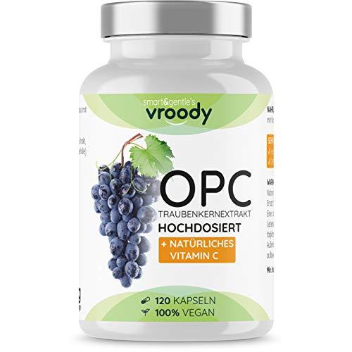 OPC Traubenkernextrakt hochdosiert mit natürlichem Vitamin C - 120 OPC Kapseln (4 Monate) mit Acerola, 100{a84c844c076c7e5dcaab2df086eccf4a9bedeb163667ff449a85004b198d7684} vegan & natürlich, OPC hochdosiert nur eine Kapsel täglich, 95{a84c844c076c7e5dcaab2df086eccf4a9bedeb163667ff449a85004b198d7684} Wirkstoffanteil