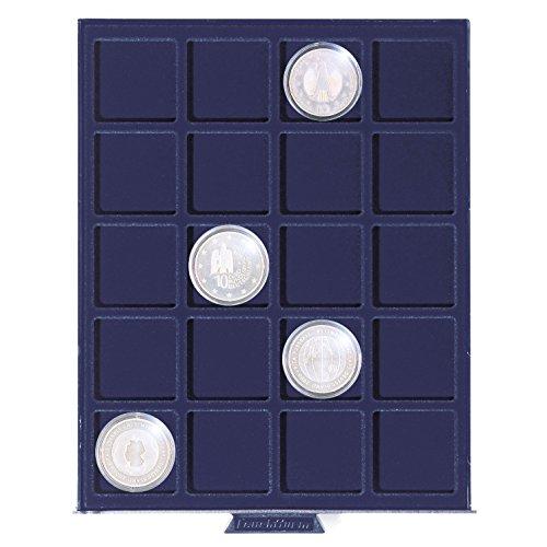 Leuchtturm Petit Médaillier SMART, 20 compartiments carrés jusqu'à 41 mm Ø