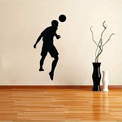 Dibujos Animados Encantador Portero Balón De Fútbol Pegatinas De Pared De Fútbol Cocina Y Gimnasio Pegatinas De Decoración De Habitación De Pvc Divertido Hermoso 29,5 Cm * 60 Cm