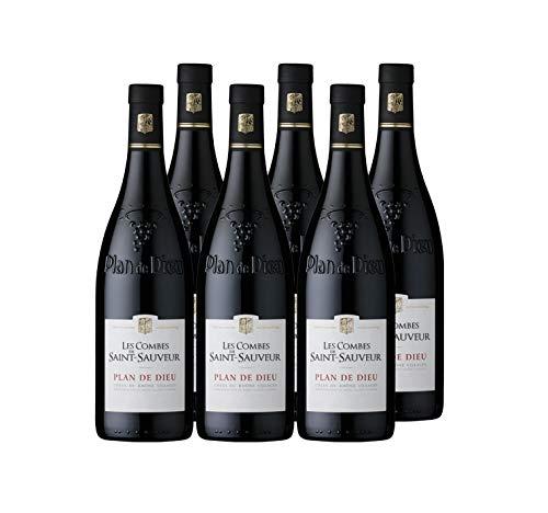 """Les Combes de Saint Sauveur - AOP Côtes du Rhône Village """"Plan de Dieu"""" - Vin Rouge - Millésime 2018 - Terra Vitis - Lot de 6 bouteilles x 75 cl"""