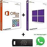 USB-Stick BUNDLE MS Windows 10 Pro & Office 2019 Pro Plus - Bootfähig - 32 / 64 Bit - Lizenz Key - Produktschlüssel - jeweils 1 PC + Anleitung von U-S-B Unleashed-Shop-Bolt®