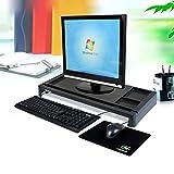 RISHIL WORLD® Computer Screen Riser Keyboard Rack with USB Port Laptop Desk Shelf Office Table Organizer Desktop Display Bracket Laptop Holder