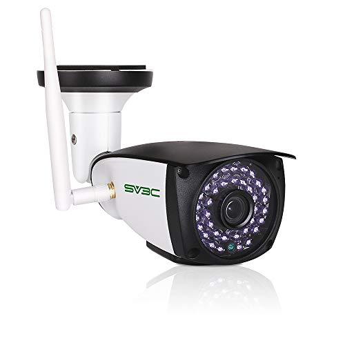 SV3C Videocamere di Sorveglianza per Esterno 3MP Wi-Fi Telecamera IP con Rilevamento del Movimento, Audio Bidirezionale, Visione Notturna, IP66, Vista a Distanza Via Android iOS Windows