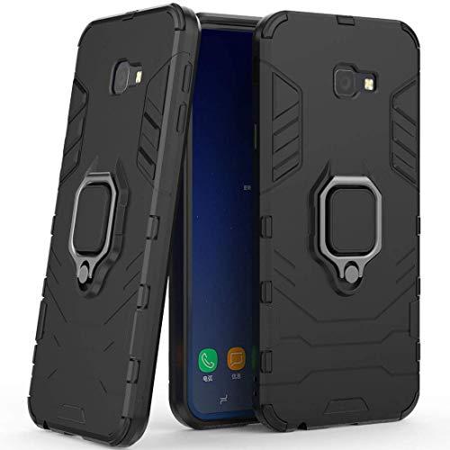 LuluMain Kompatibel mit Galaxy J4 Core Hülle, Ring Ständer Magnetischer Handyhalter Auto Hülleme Schutzhülle Hülle für Samsung Galaxy J4 Core (Schwarz)