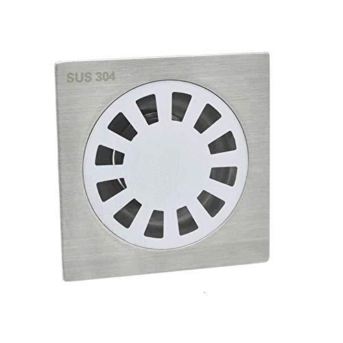 EXCLVEA Bodenablauf 304 Edelstahl Poliert 2 Mm Bodenablauf Waschmaschine Deodorant Badezimmer Bodenablauf für Garten Outdoor Küche (Color : Silver, Size : ONE Size)
