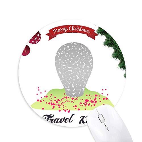 Bekanntes Wahrzeichen in Korea Round Rubber Mouse Pad Weihnachtsbaum Mat