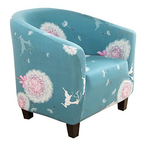 Souarts Sofabezug Stretch Couchbezug Blumen Drucken Sesselhusse Sesselbezug Couchüberwurf Elastisch Husse für Cafe Stuhl Sessel Clubsessel
