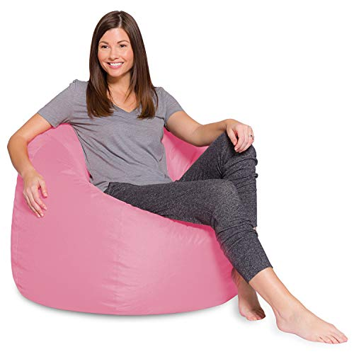 Posh Beanbags Bean Bag Chair, X-Large-48in, Solid Pink