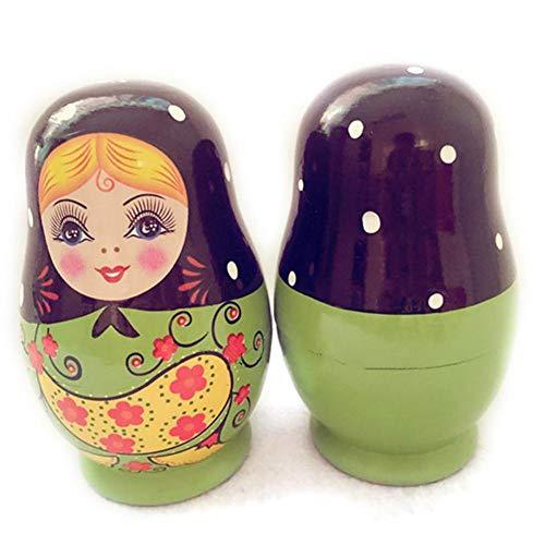 QueenHome 5 stücke Stapeln Spielzeug Von Kreativen Kleinen Bauch Nesting Dolls Russische Verschachtelung Puppen Holz Matroschka Puppen Pfingstrose Russische Verschachtelung Puppen