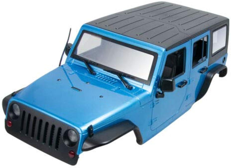 FidgetKute 1X 313MM Car Body Shell for 1 10 RC Car Jeep Wrangler SCX10II 90046 90047 TRX4 bluee
